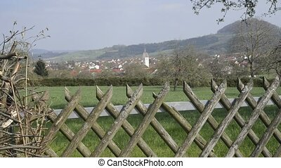 Panoramic view in Germany to a fmaous German emperor hill...