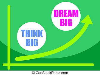 Think big, dream big concept - Think big, dream big slogan...