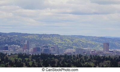 Portland Oregon Skyline Timelapse - Portland Oregon City...