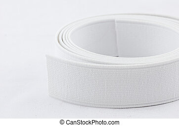 Elastic strips for cloth in the white background