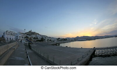 Sunset Eivissa - Sunset Timelapse at the harbour of Eivissa...