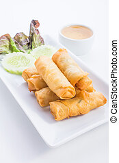 Spring Rolls is food thailand