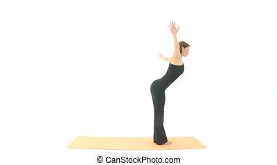 Yoga Asana in sequence: Sun Salutation, Sun Salutation A,...