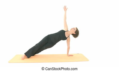Yoga Asana in sequence: Side Plank, Side Plank Pose, Wild...