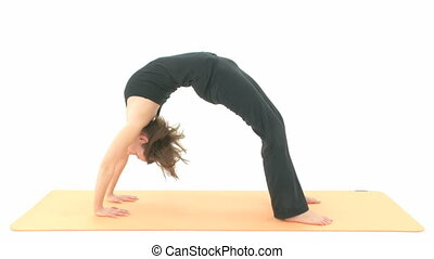 Yoga Asana in sequence: Wheel Pose, Wheel Posture