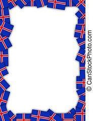 Iceland flag frame