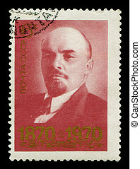 Postage stamp with Lenin - USSR - CIRCA 1970 A stamp shows...