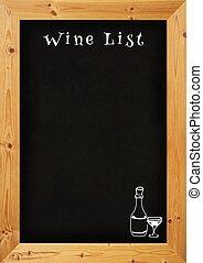 Wine List - Illustration of wine list menu