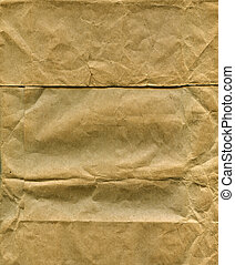 Packing paper - Textured obsolete crumpled packaging brown...
