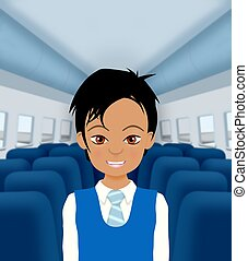 Air Steward - Illustration of an Air Steward