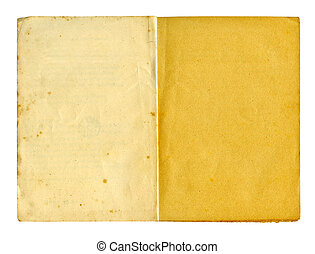 Old writing-pad - Obsolete writing-pad isolated on white...