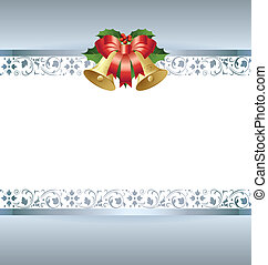 Christmas card template - Stylized silver Christmas card...