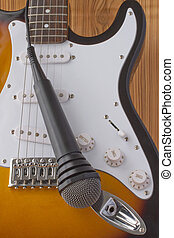 Guitar and microphone