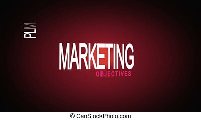 Montage of marketing business buzz