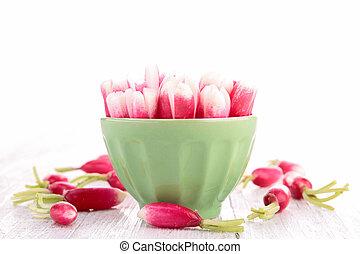 bowl of radish