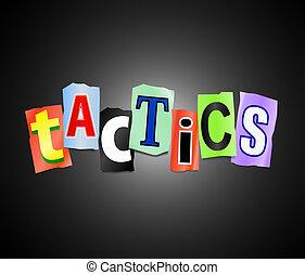 Tactics concept.