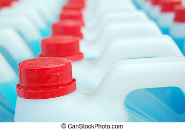 plástico, Detergente, botellas