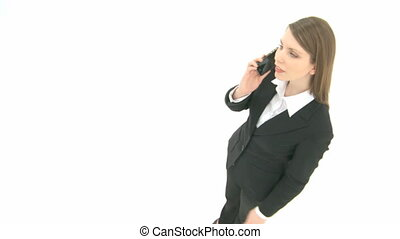 Woman on the phone with her mobile phone