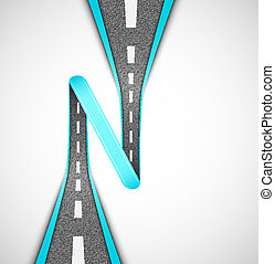 Road loop, vector Eps 10