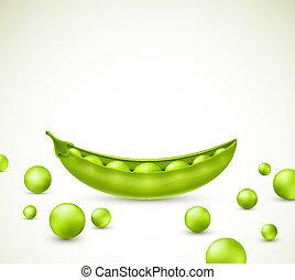Green peas, vector. Eps 10