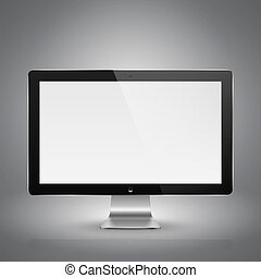 Computer monitor - Realistic vector illustration of computer...
