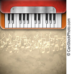 Background with piano