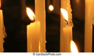 Burning candles, Portovenere - Burning candles, Gulf of...