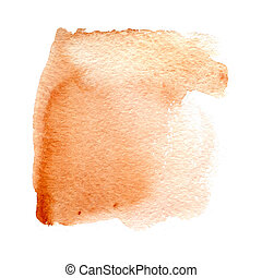 Wet brown watercolor background
