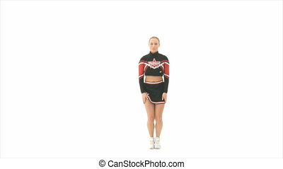Cheerleader jump up high Slow Motion