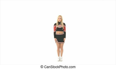 Cheerleader jump up high