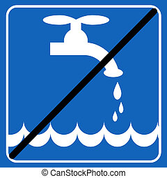 save the water blue sign; save the environment illustration