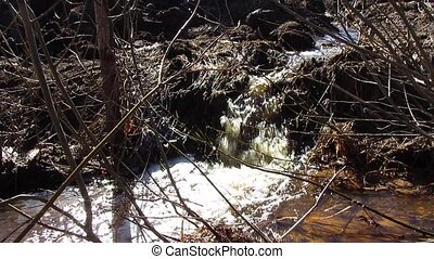 water flow - springtime, water flow