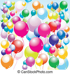 balloons  - balloons, celebration background