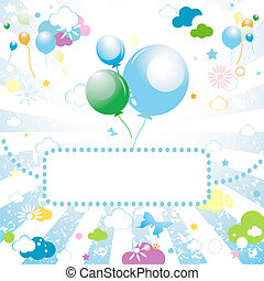 balloons - Holiday background with balloons. Vector.