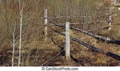 old fence, countryside