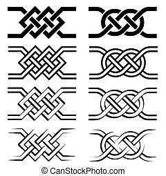 decorative design elements in line art