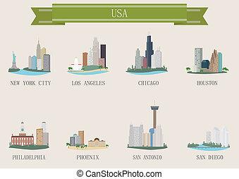 City symbol. USA