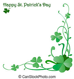 background design for St. Patrick's Day with three leaves...