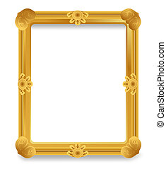 Gold Vintage Frame.