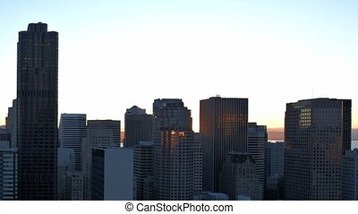 San Francisco sunrise Timelapse