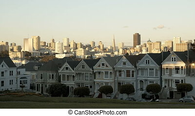 San Francisco Painted Ladies sunset Timelapse