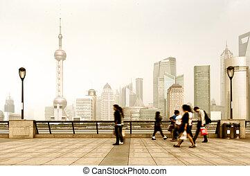 Bund in Shanghai, China - the bund of shanghai, China