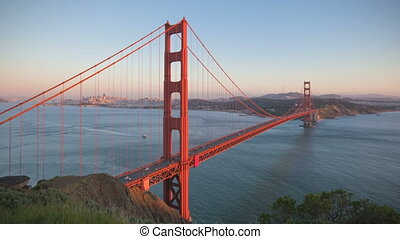 San Francisco Golden Gate Bridge sunset timelapse
