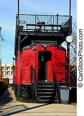 Caboose Reuse - USC Cockaboose Railroad includes colorful...