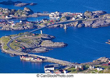 Norwegian bridges - Concrete bridge connecting picturesque...