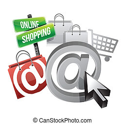 online shopping illustration concept