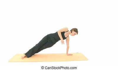 Yoga Asana - Yoga in sequence: Asana Side Plank, Side Plank...