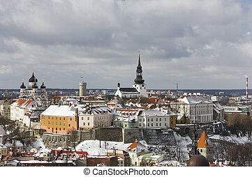 Old Town of Tallinn, Estonia - Historic Old Town of Tallinn,...