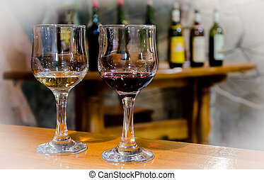 wine testing - classic wine testing in winery