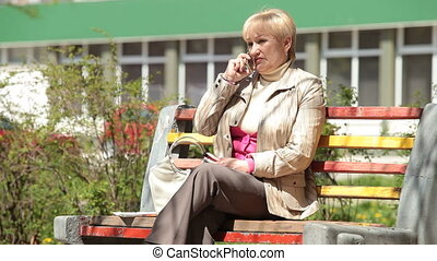 Senior lady talking on the phone